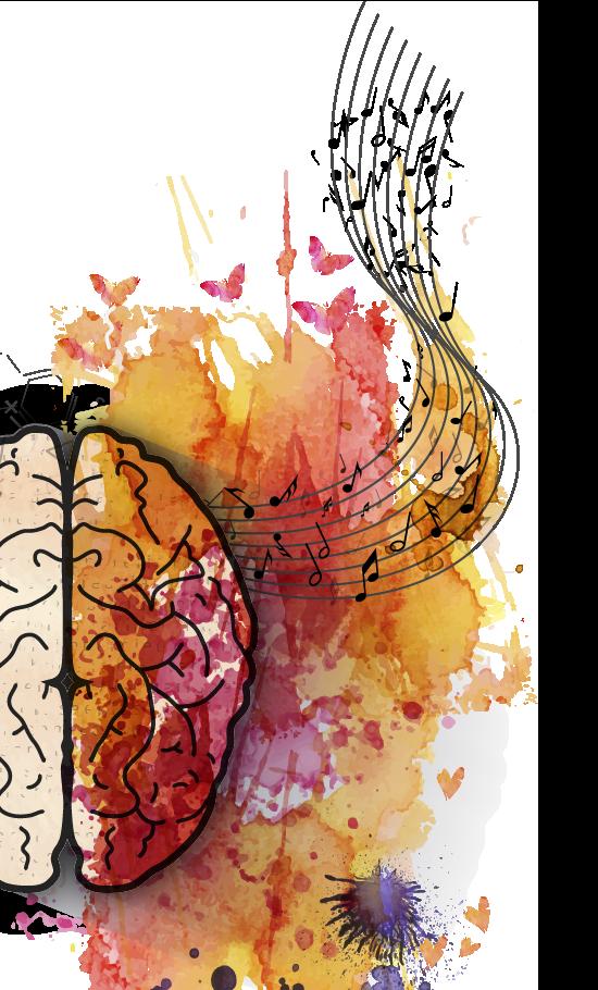 Buntes Gehirn